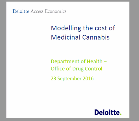 Modelling the costs of medicinal cannabis - Australia
