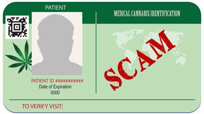Medical cannabis card scam