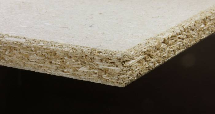 Particleboard made with hemp