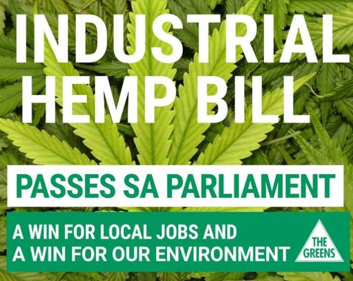 Industrial hemp bill South Australia