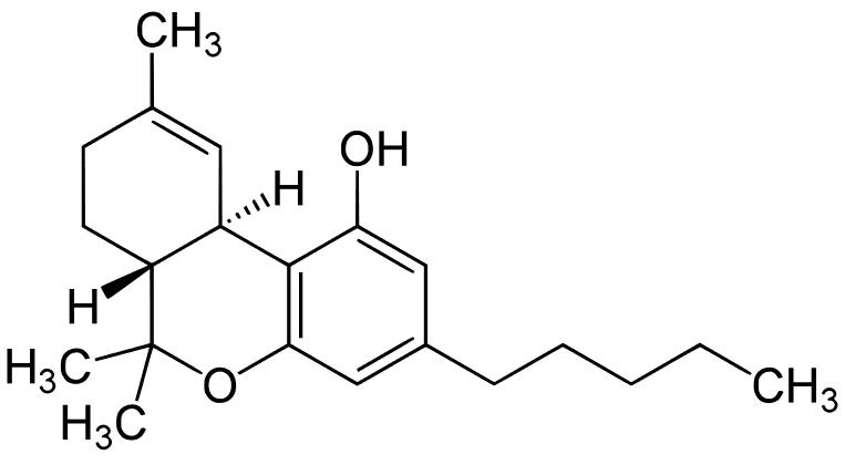 THC - Tetrahydrocannabinol molecular structure