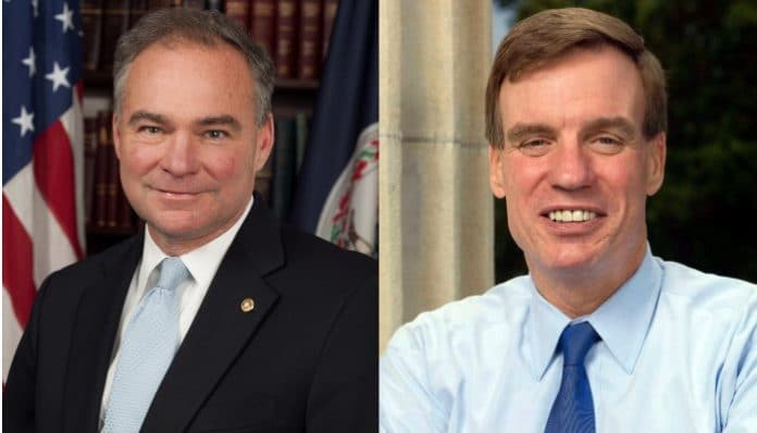 Senators Mark Warner and Tim Kaine