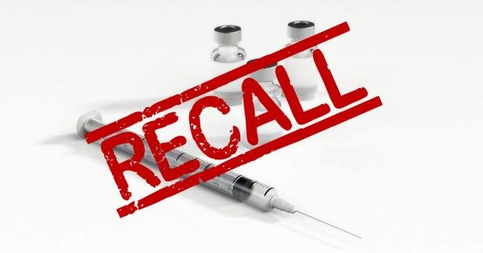 Injectable cannabidiol recall